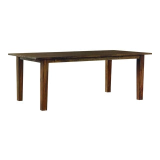 Crate & Barrel Solid Blond Wood Table