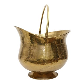 Over Sized Brass Firewood/Log Planter For Sale