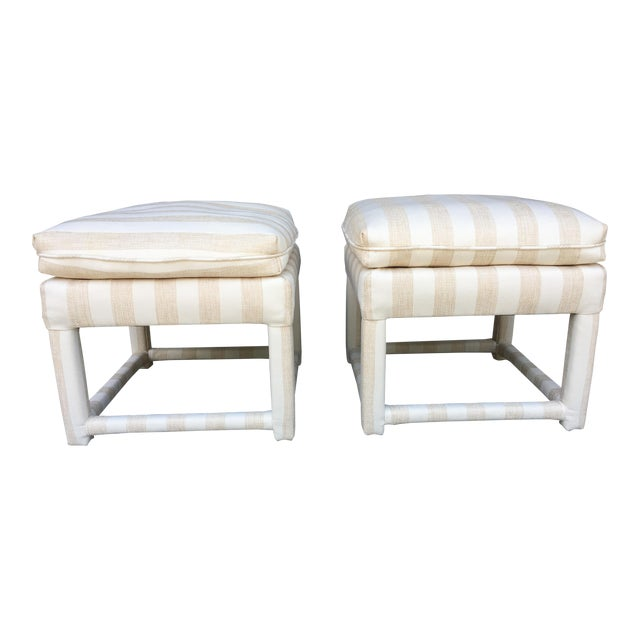 Mid-Century Parsons Stools - A Pair - Image 1 of 7