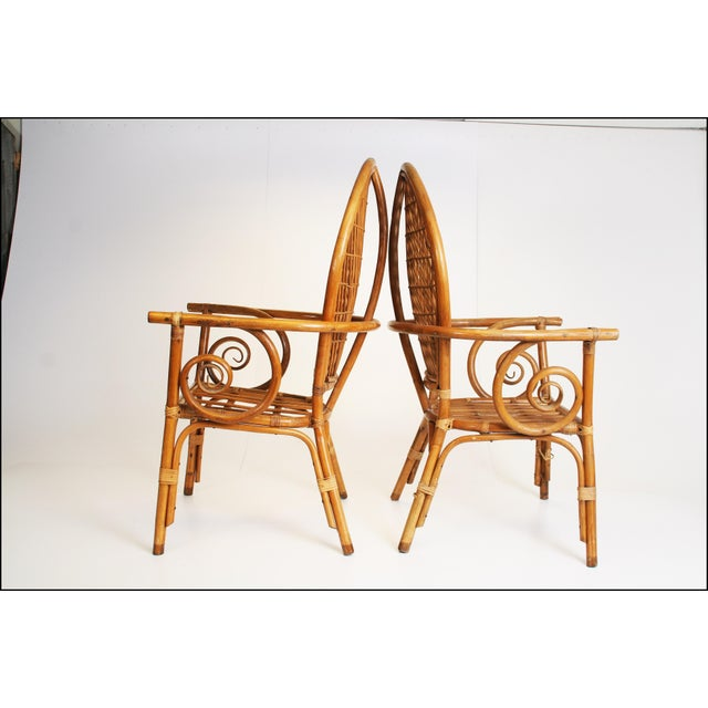 Vintage Bamboo Bentwood Chairs - A Pair For Sale - Image 4 of 11