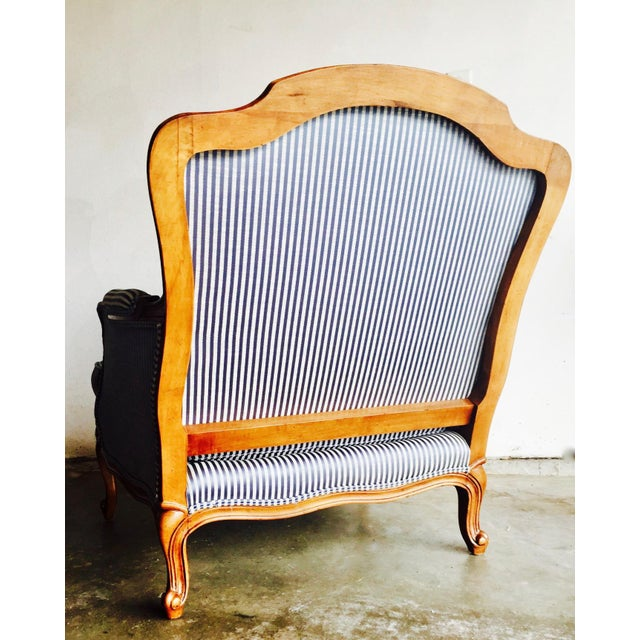 Vintage Heritage Bergere Chair & Ottoman - Image 5 of 10
