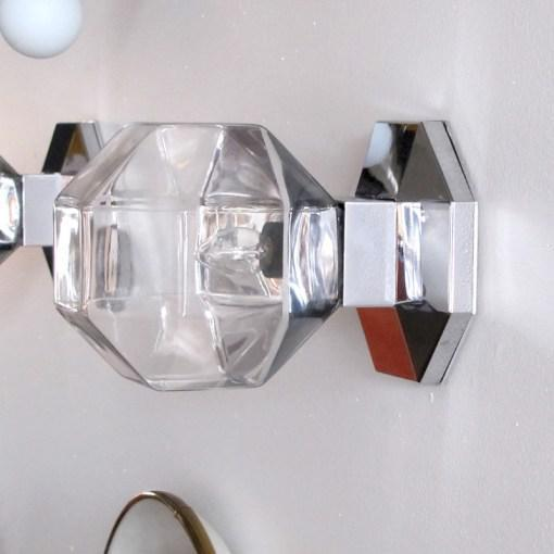 Staff Leuchten Motoko Ishii for Staff Leuchten Modulare Chrome and Glass Light For Sale - Image 4 of 10