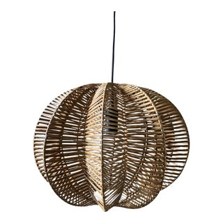 Balinese Woven Rattan Pendant For Sale