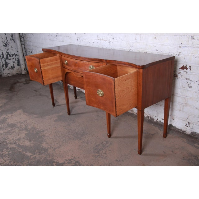 Kittinger Inlaid Mahogany Sideboard Credenza For Sale In South Bend - Image 6 of 13
