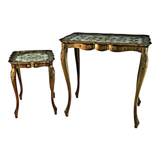 Florentine Auxiliary Tables - A Pair For Sale