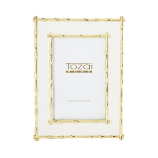 Tozai Home Bamboo White Enamel Picture Frame For Sale