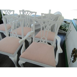 1930s Boho Chic Dining Chairs With Soft Pink Kravet Upholstery - Set of 6 Preview