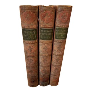 3 Leather Bound Volumes About Music. For Sale