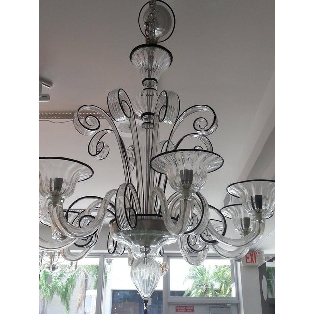 Vintage Murano Louis XV Style Chandelier For Sale - Image 10 of 13