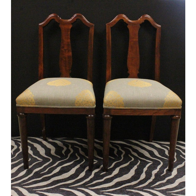 Traditional Mahogany Side Chairs - A Pair For Sale - Image 3 of 7
