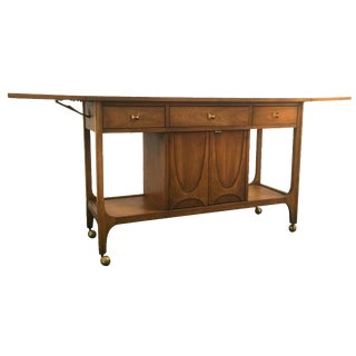 Broyhill Brasilia Danish Modern Walnut Bar Cart