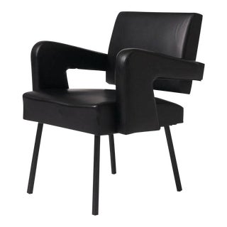 Jacques Adnet Leather Armchair For Sale