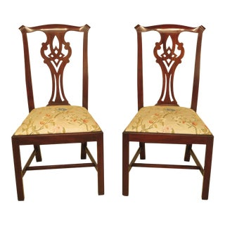 Henkel Harris Model Chippendale Mahogany Dining Chairs - A Pair