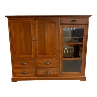 Restoration Hardware Michael's Furniture Cherry Cabinet For Sale
