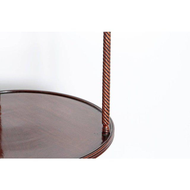 Late 18th Century George III Tiered Dessert Table of Mahogany For Sale - Image 11 of 12