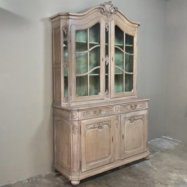 19th Century Country French Provincial Stripped Bookcase ~ Vitrine is the ideal choice for display and storage in style!...