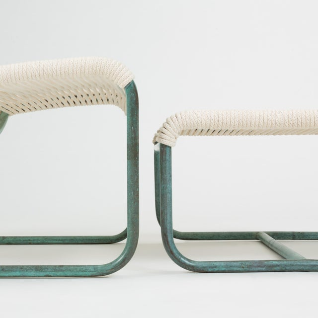 Sleigh Chair and Ottoman by Walter Lamb for Brown Jordan For Sale - Image 10 of 13