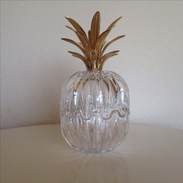 Vintage Glass and Brass Pineapple - Image 3 of 6