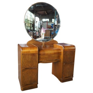 Palace Furniture Co Art Deco Waterfall Dressing Table For Sale