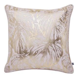 Tropical Leaves Blush Cushion For Sale