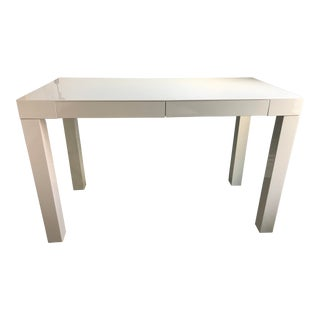 Contemporary West Elm White Writing Desk