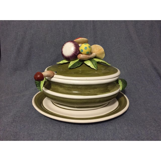 Fresh from a local mid-century estate, this three piece mushroom soup tureen is in excellent, near-mint, condition. It...