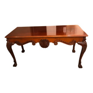 Baker Furniture Mahogany Baroque Console Table For Sale