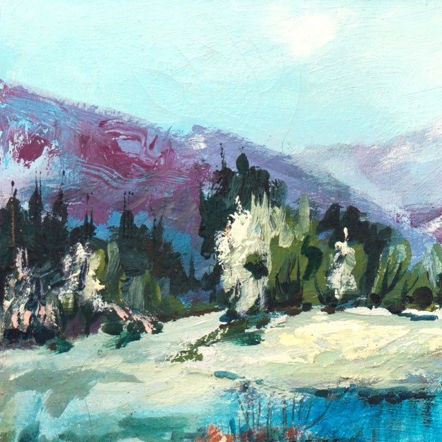 1960's Mountain Stream Painting by Marion Miller - Image 2 of 6