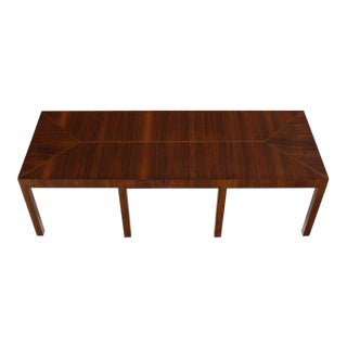 Long Rectangle Eight-Legged Walnut Coffee Display Table
