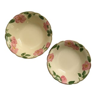 Mid-Century Desert Rose Pattern Serving Bowls by Franciscan China - Set of 2 For Sale