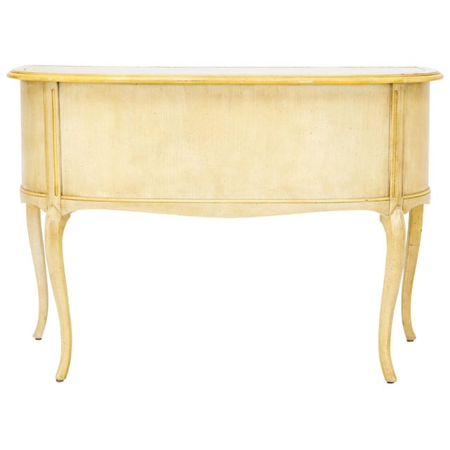 Gold Demilune Desk W/ Leather Top by Sligh For Sale - Image 8 of 11