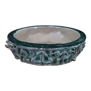 1958 Signed Collectible Hollywood Celebrity Frank Fay Tahitian Art Pottery Bowl Sculpture For Sale