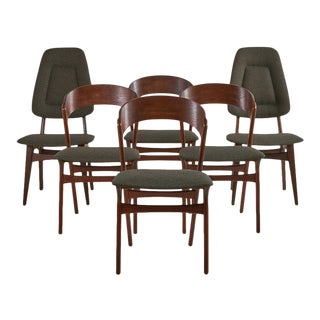 Set of 6 Rosewood Dining Chairs by Randers Mobelfabrik, Danish For Sale