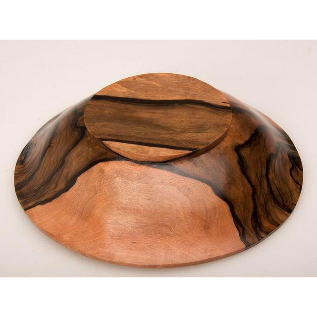 Lights English Coromandel Wood Hand Made Bowl For Sale - Image 7 of 7