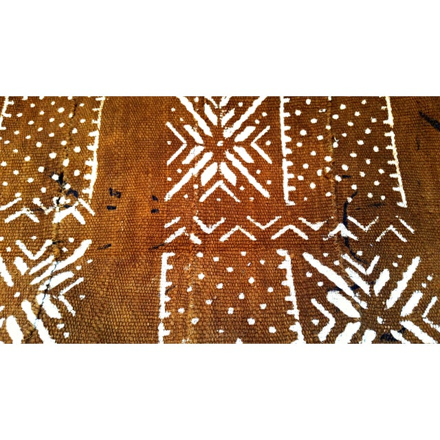 African MudCloth Brown Rust Textile For Sale In Los Angeles - Image 6 of 7