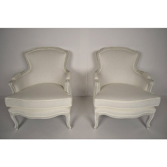 French Louis XV Style Bergeres - Pair - Image 3 of 5