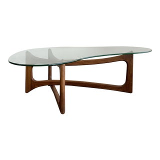 1960s Mid Century Modern Adrian Pearsall Boomerang Coffee Table For Sale