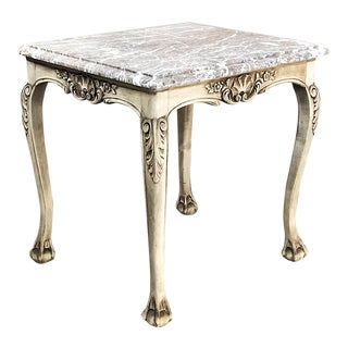 Antique Regence Marble Top Stripped Walnut Occasional Table For Sale