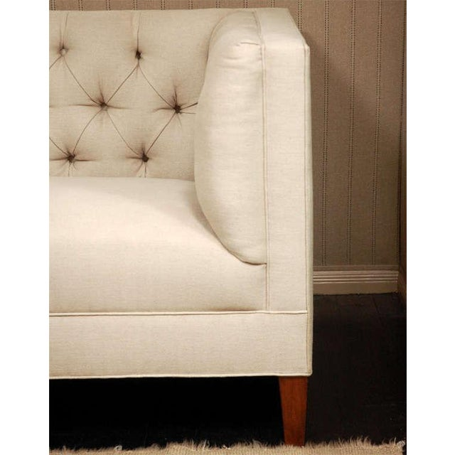 """""""Tatum"""" by Lee Stanton William IV style tufted sofa. Tatum is a tufted straight back and sides sofa with tapered legs...."""