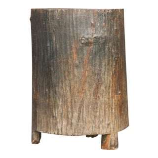 Aged Naga Solid Wood Planter For Sale