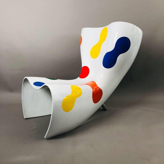 Marc Newson Limited Edition Felt Chair For Sale - Image 9 of 9