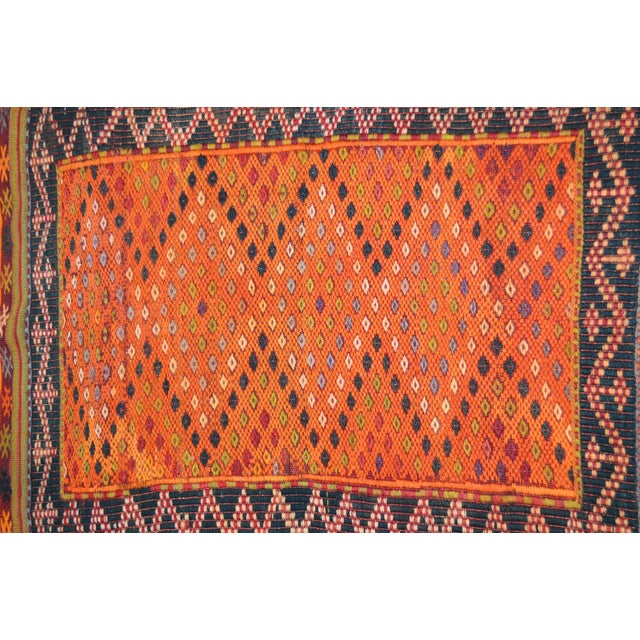 """Shabby Chic Vintage Turkish Anatolian Hand Made Organic Wool Natural Color Kilim,2'6""""x3'9"""" For Sale - Image 3 of 4"""