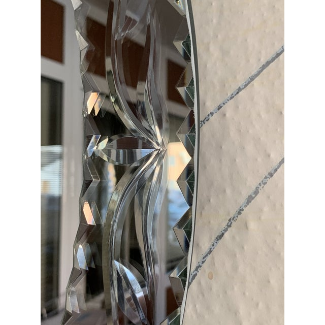 New Oval Venetian Mirror With Crest For Sale In Miami - Image 6 of 8