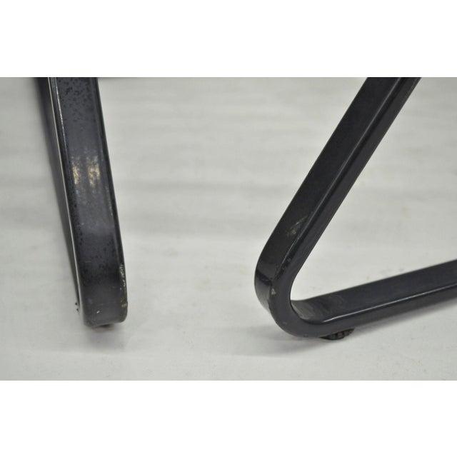 Pair of Brown Jordan Lido Aluminum Vinyl Strap Patio Pool Lounge Chairs Black A - Image 10 of 11