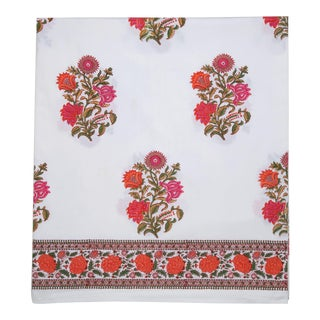 Sanya Flat Sheet, Queen - Pink & Orange For Sale