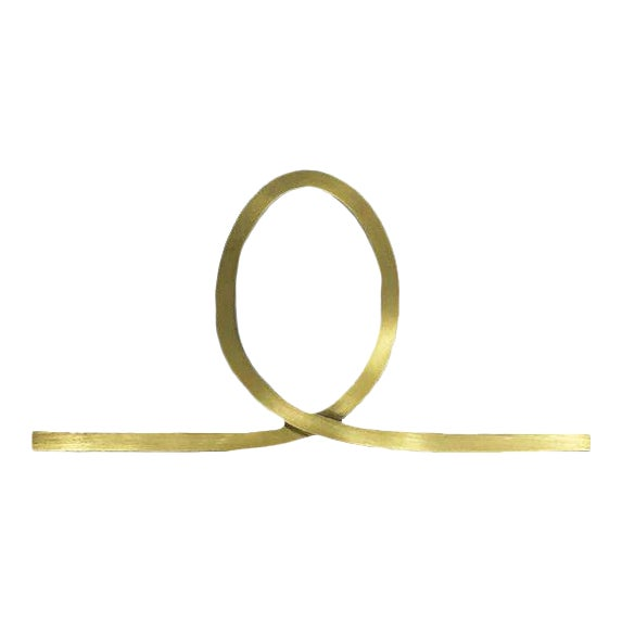 Looped Knob - Satin Brass For Sale
