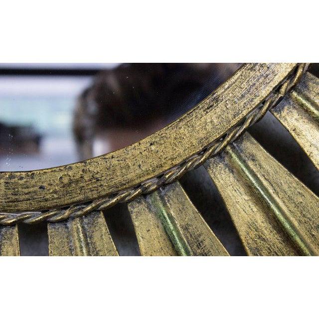 Gilt Metal Oval Sunburst Mirror - Image 3 of 9
