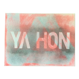 Contemporary Text on Canvas Painting For Sale