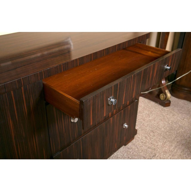 Brown E.J. Victor Zebrawood Willie Chest For Sale - Image 8 of 10