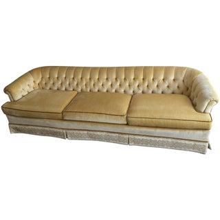 Sunny Yellow Vintage Velvet Sofa